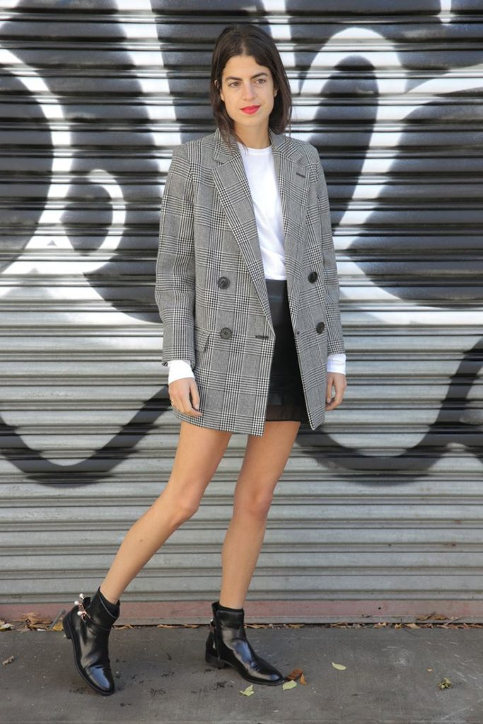Пиджак Oversize с юбкой-карандаш.