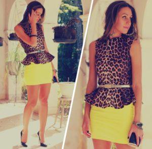 леопард и желтый