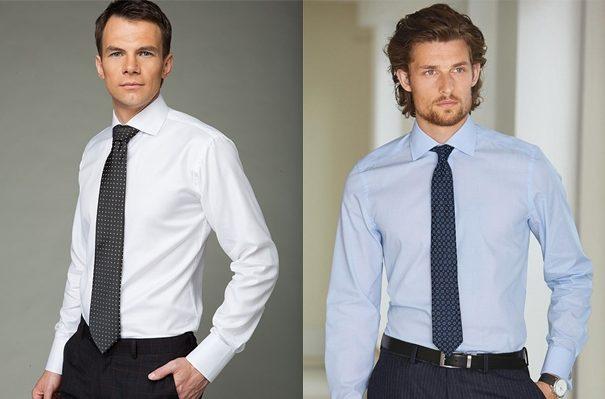 Варианты рубашки с галстуком.