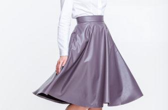 С чем носить юбку клеш по колено?