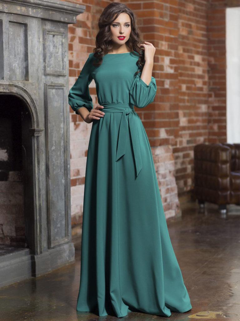 Как выбрать фасон вечернего платья с длинными рукавами
