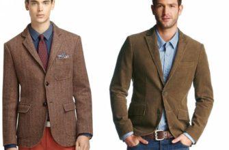 Варианты сочетаний с коричневым пиджаком.