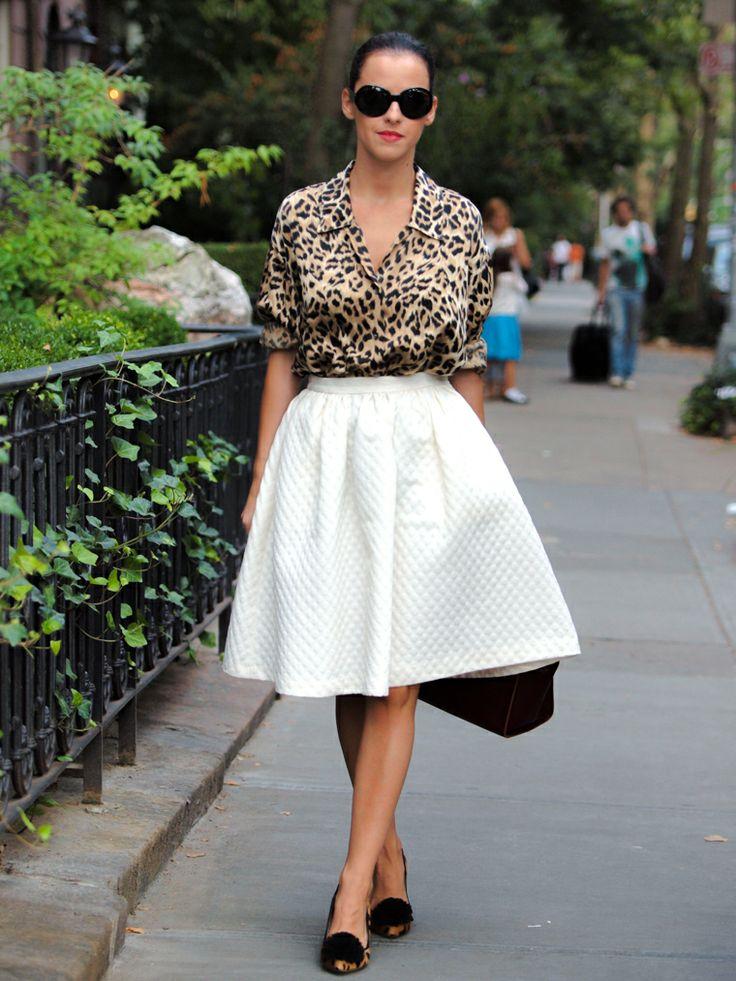 С чем носить блузку под «леопарда»