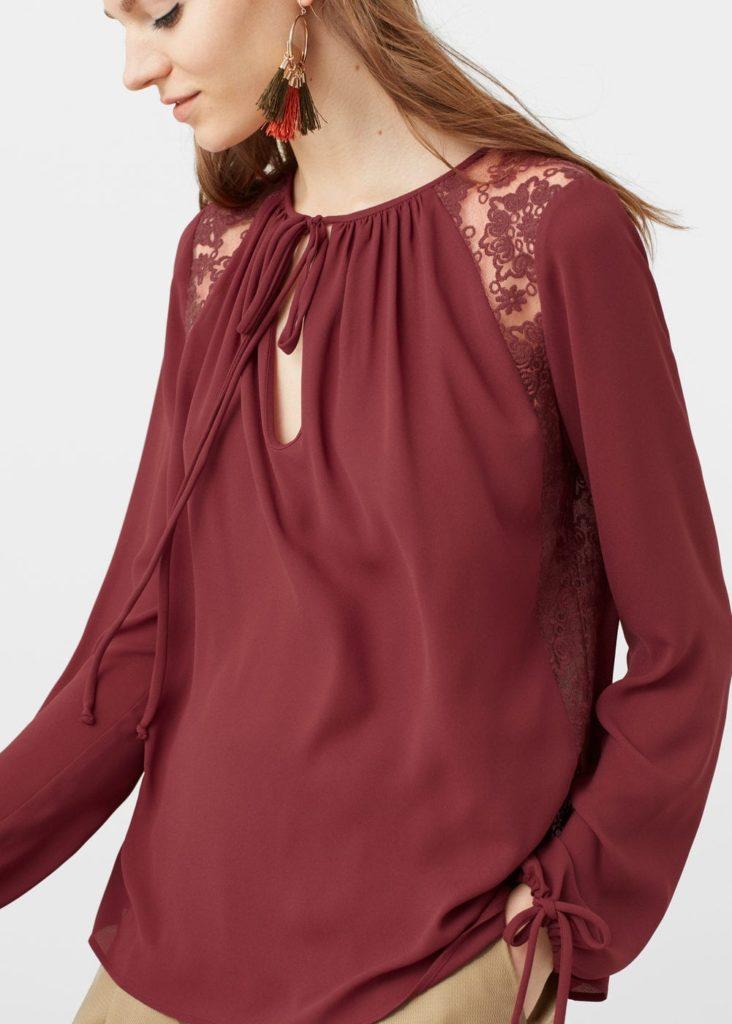 Блузка из шифона свободного кроя.
