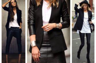 Чёрный жакет: с чем носить