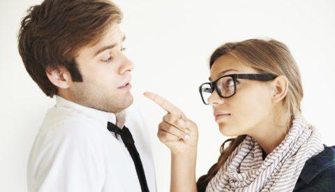 Разговор мужчины и женщины.