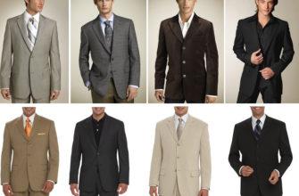 Виды мужских пиджаков