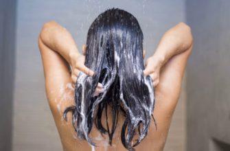 Мытьё длинных волос.