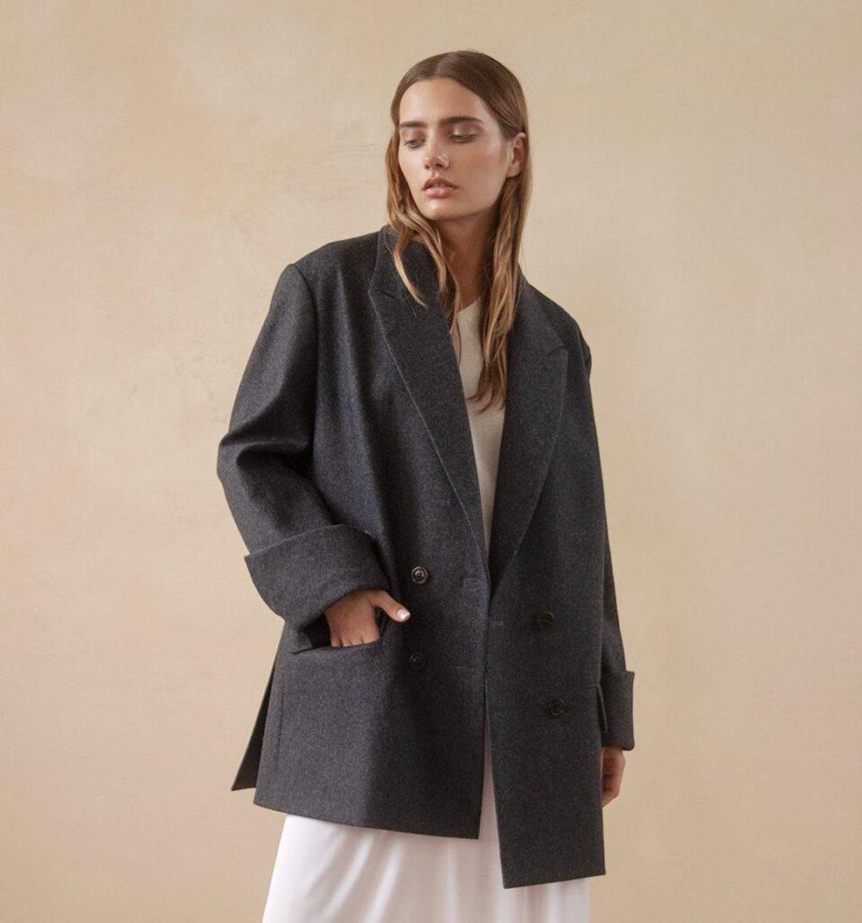 Пиджак оверсайз серый.