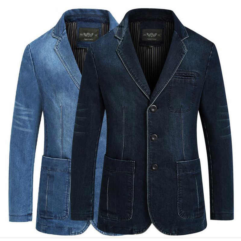 С чем носить мужской пиджак из джинсовой ткани 1