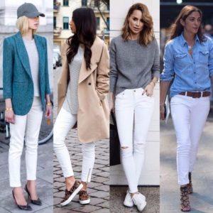 с рубашкой из джинса