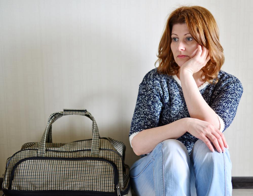 Женщина с сумкой.