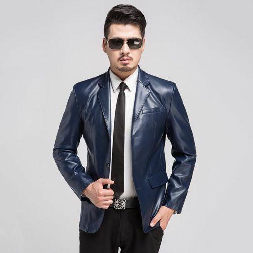 С чем носить кожаный пиджак мужчинам
