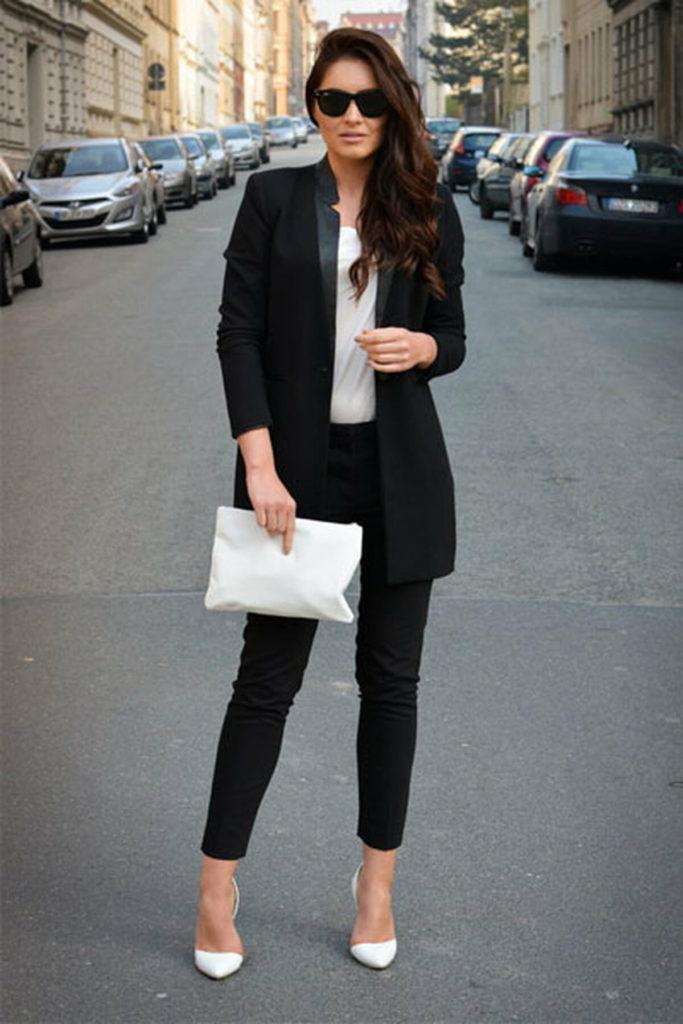 подачи что можно одеть с черным пиджаком фото уже дело