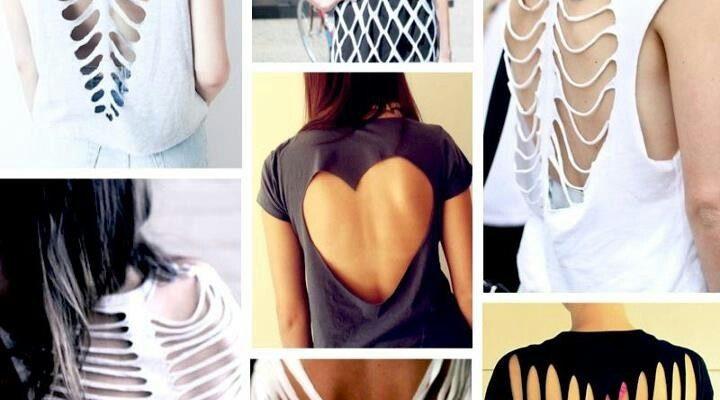 Как красиво порезать футболку