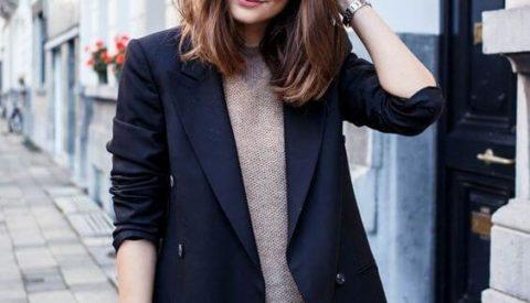 С чем носить синий женский пиджак