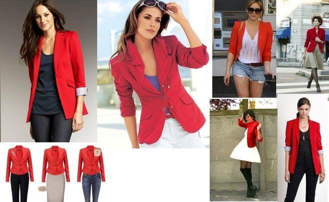 Образы с красным пиджаком.