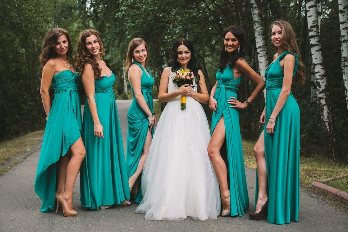 фасон платья для подружки невесты фото можем увидеть