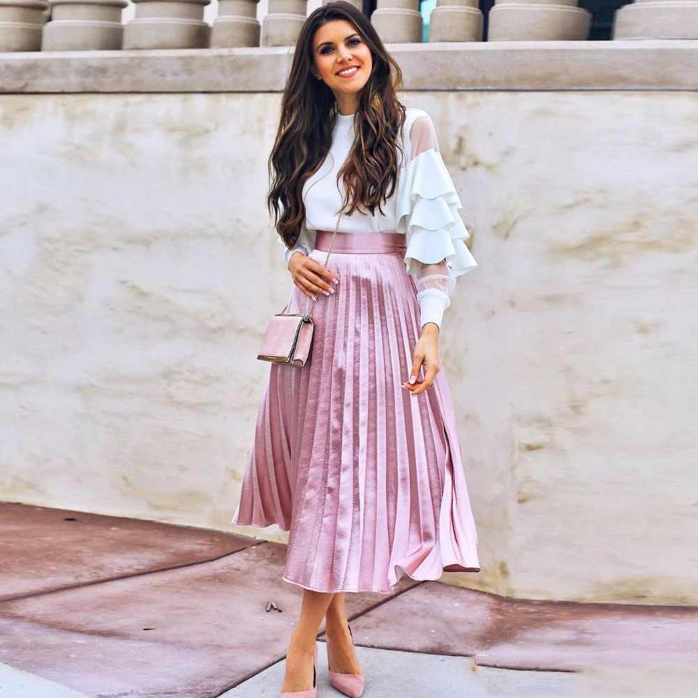 С чем носить розовую юбку плиссе? на праздник
