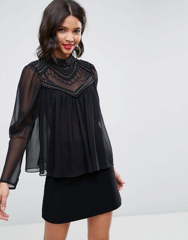 Как носить прозрачную блузку