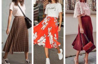 С чем носить плиссированную юбку летом