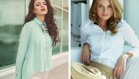 Чем отличается блузка от рубашки?
