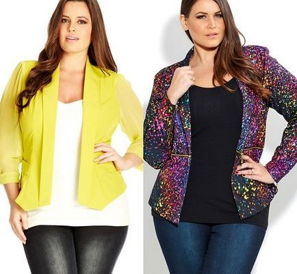 Модели пиджаков для полных женщин