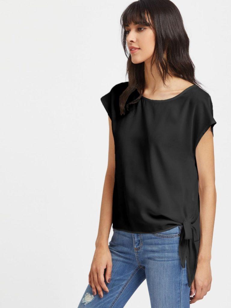 Блузка в бельевом стиле.