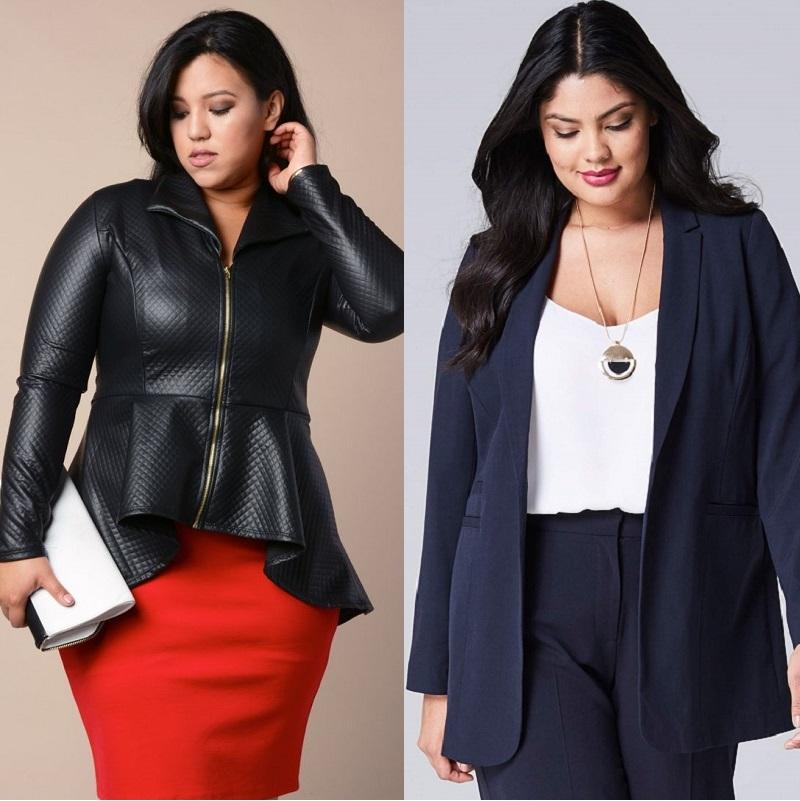 Модели пиджаков для полных женщин 1
