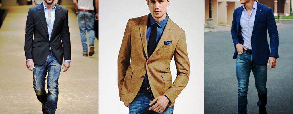 Какой пиджак можно носить с джинсами мужчинам