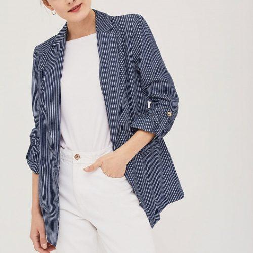 С чем носить полосатый пиджак?