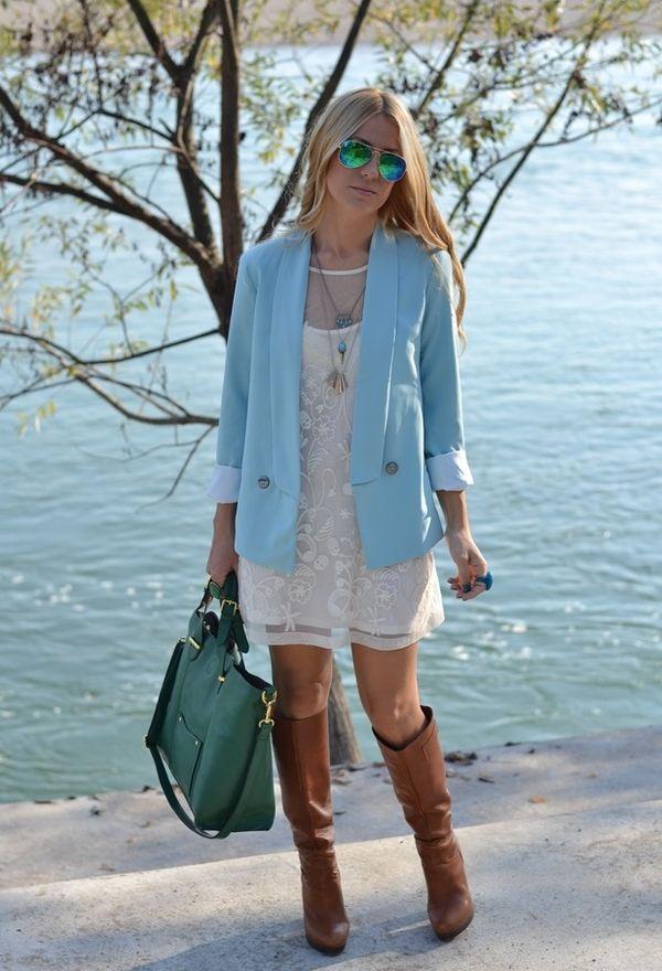Образ с голубым пиджаком.