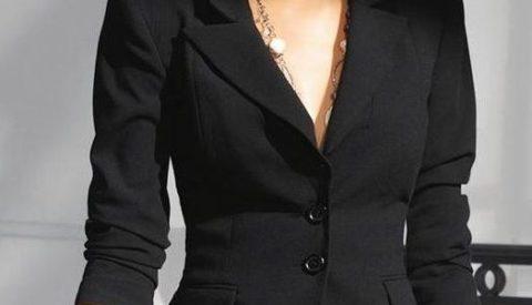 С чем носить женский чёрный пиджак