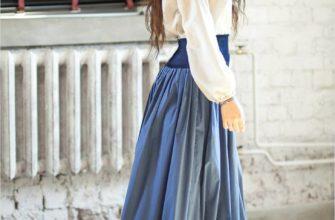 Блузки под длинную юбку