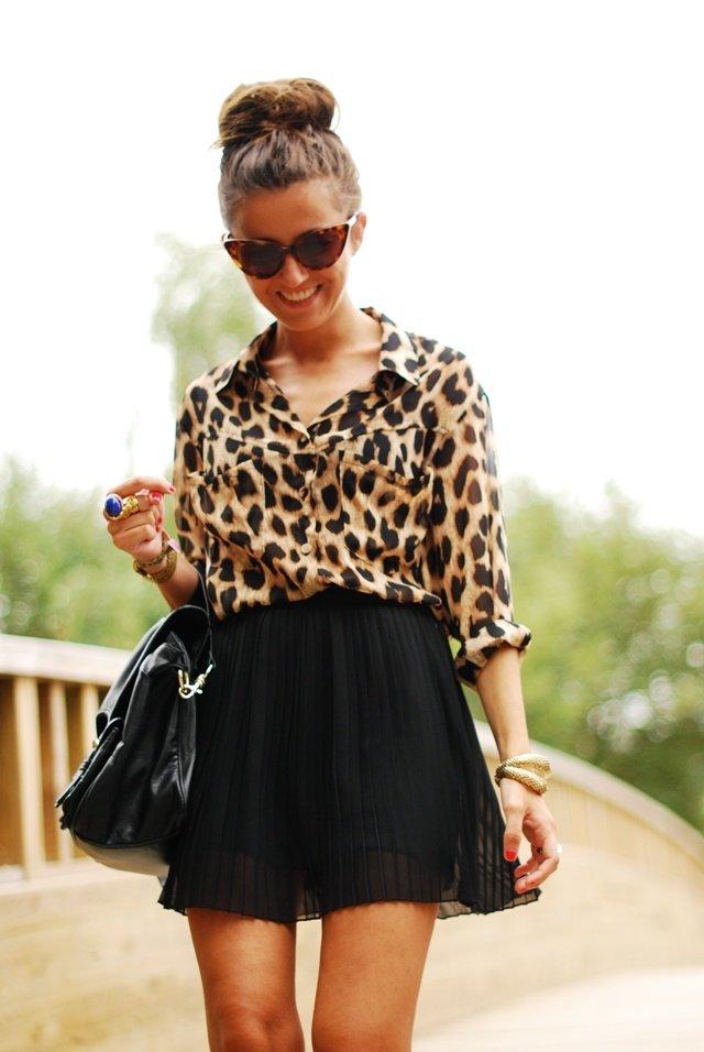 леопард и черный