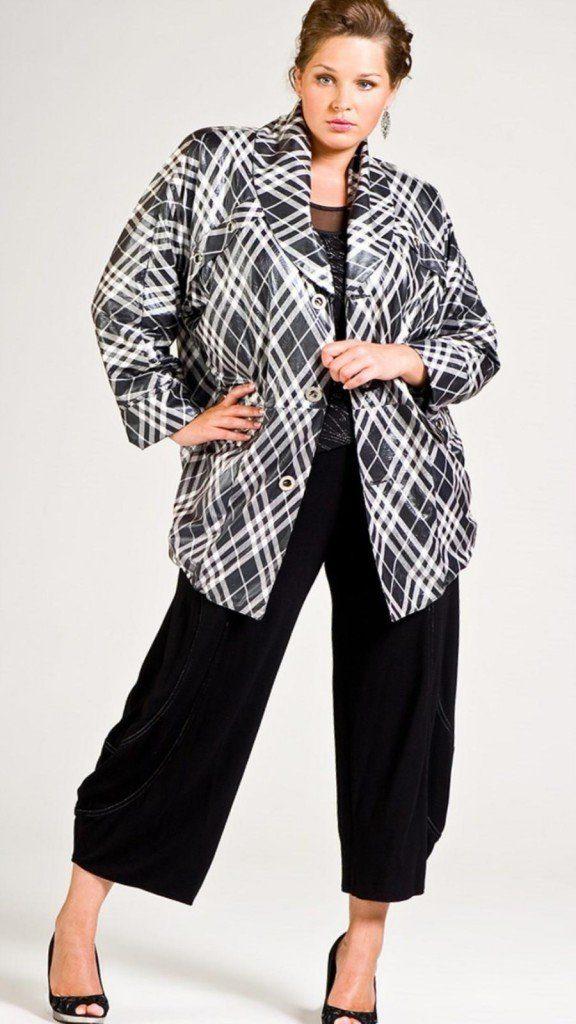 Модели пиджаков оверсайз для полных женщин