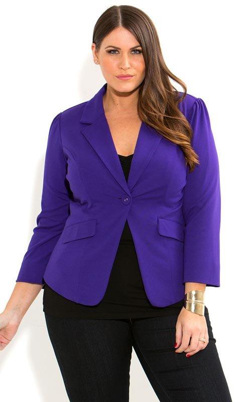 Модели классических пиджаков для полных женщин