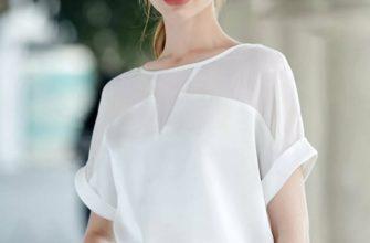 Белая блузка из шифона.