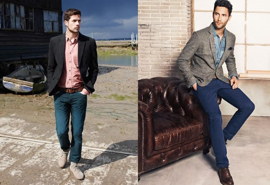 Какой пиджак можно носить с джинсами мужчинам.