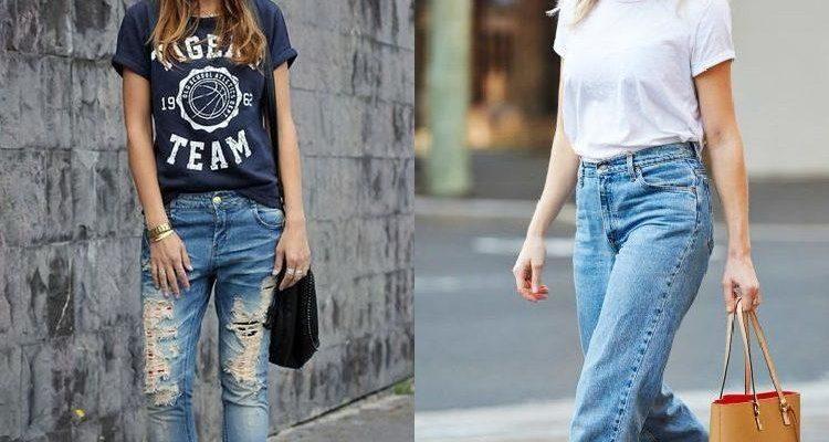 Как носить футболку с джинсами