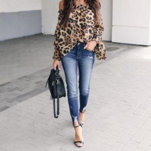 леопард и деним