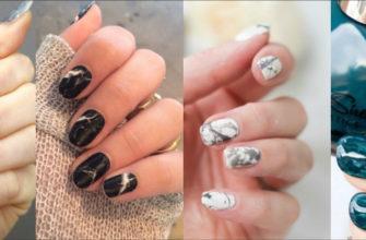 Техника выполнения разводов на ногтях гель-лаком