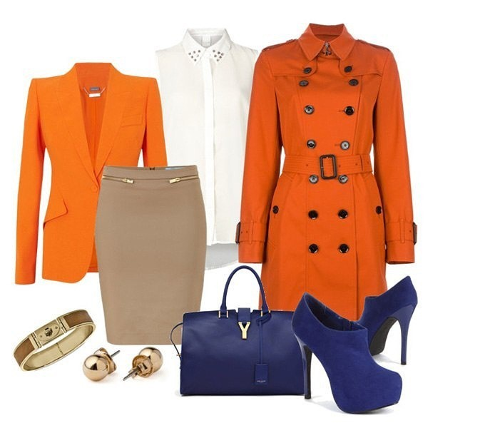 С чем носить пальто рыжего цвета одежда
