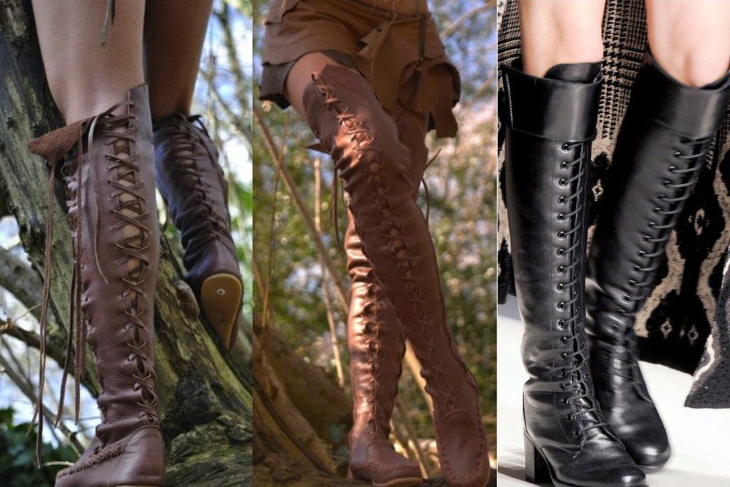 Сапоги на шнуровке — мастхэв для каждой модницы