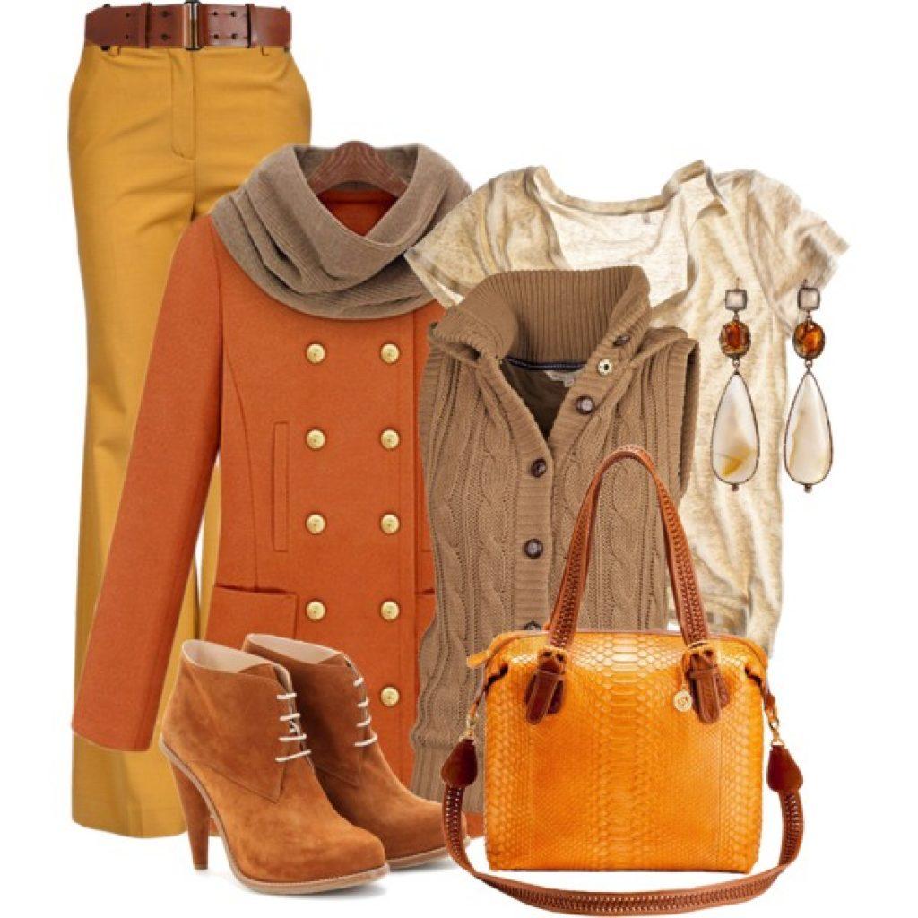 С чем носить пальто рыжего цвета аксессуары