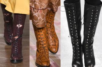 Как создать стильный образ с сапогами на шнуровке?