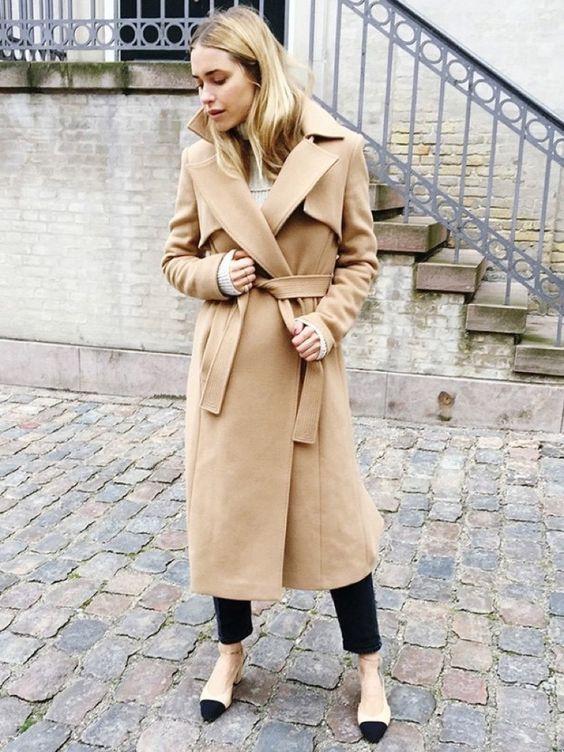 С чем носить пальто длины миди? обувь