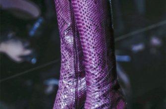 Яркие образы с фиолетовыми сапогами