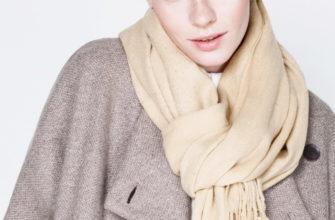 Как завязывать шарф на плащ