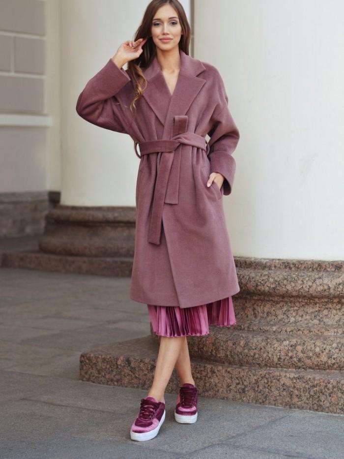 С чем носить пальто длины миди? что под низ